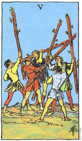 horoscop tarot - five-of-wands-263x450