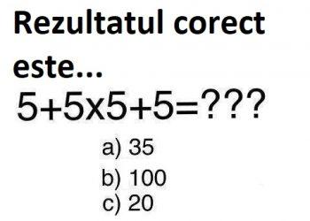 Un simplu exercitiu de matematica
