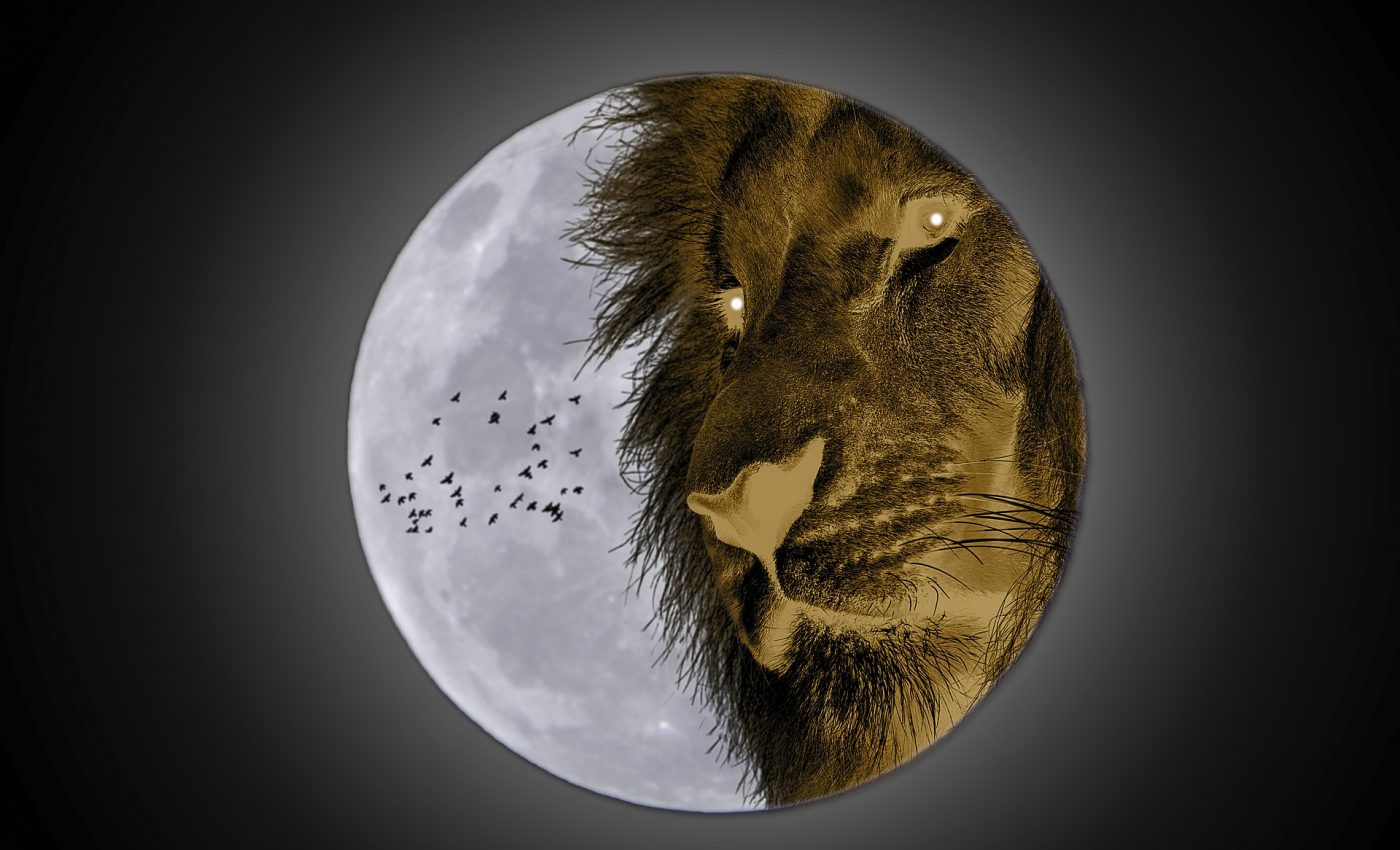 Luna plina in Leu