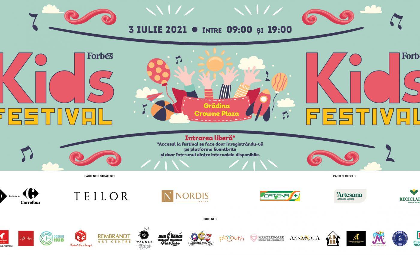 După un an de pauză, FORBES KIDS FESTIVAL revine cu o nouă ediție plină de culoare și voie bună, pe 3 iulie, începând cu ora 09:00, în grădina generoasă de la Crowne Plaza București.