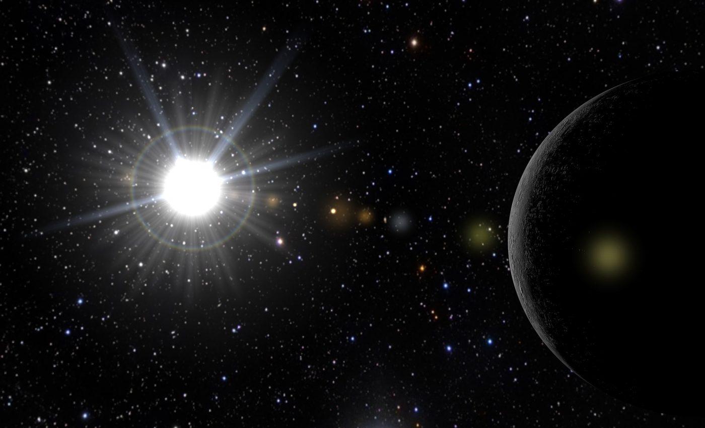 Mercur in centrul Soarelui